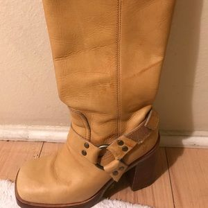 Frye Karma Harness Boots- Camel Color